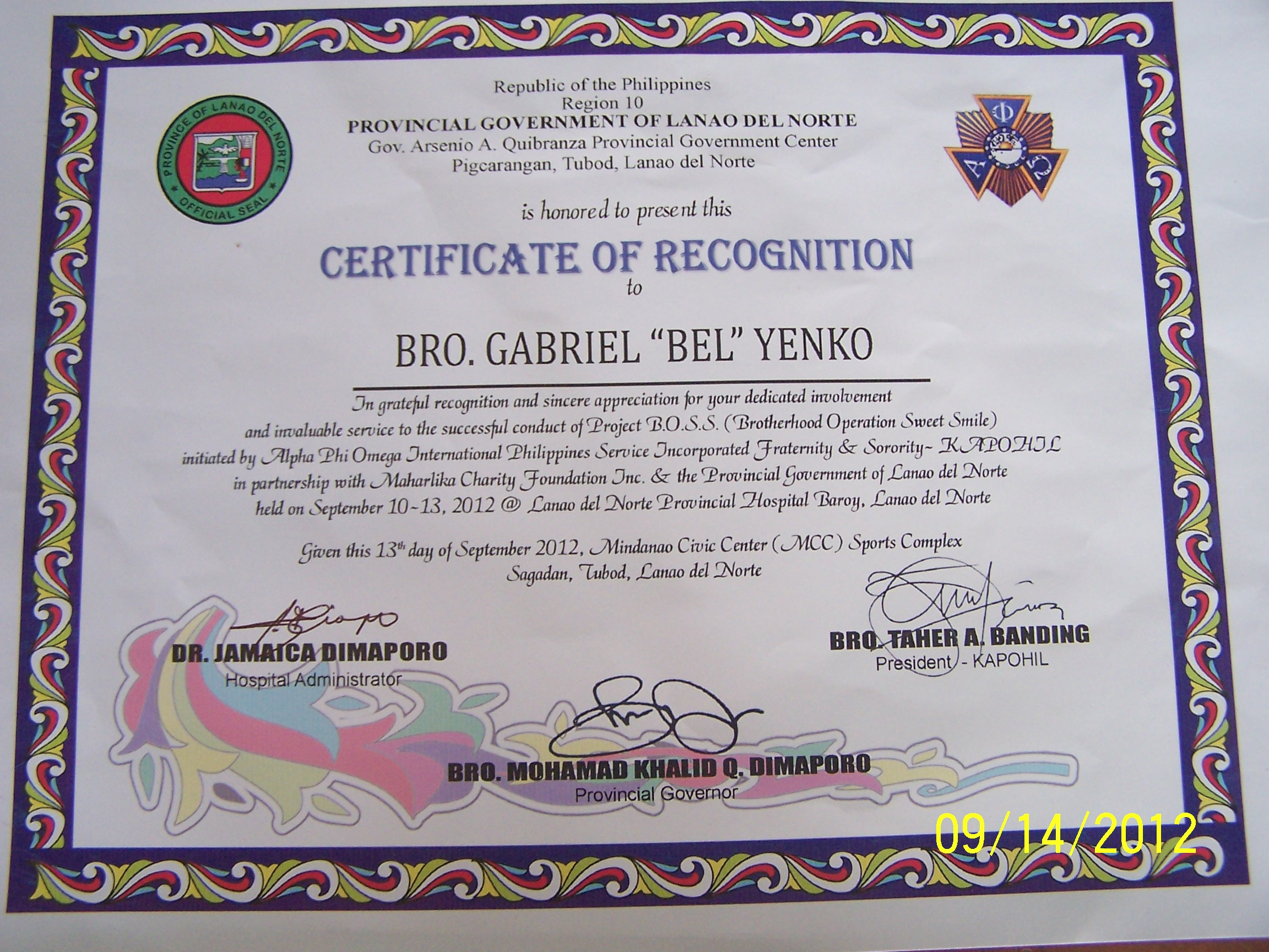 certificate recognition philippines pixels resolutions zamboanga