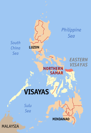 Northern samar philippines map locator.png