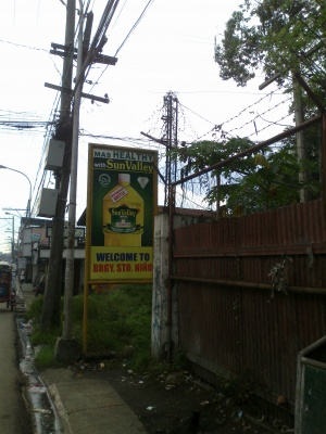 Welcome to Barangay Sto. Nino, San jose Rd. side.jpg