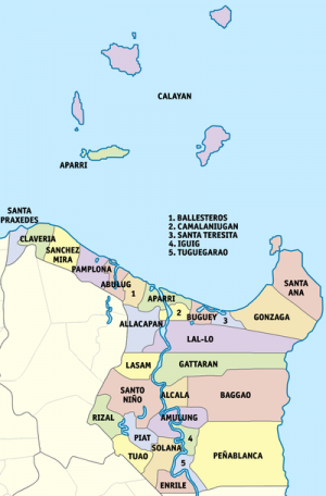Municipalities in Cagayan province.png