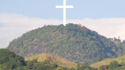 Cross of christ on mount columbato.png