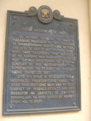 Naic cavite historical plaque 01.jpg
