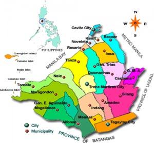 Map Of Cavite Province Philippines Cavite Province, Philippines   Philippines
