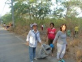 Barangay Employee of Barangay Labangal Cleanup Drive @ the Entrance of Doña Soledad Subdivision last 18th and 19th day of april 2015, Morning around 6AM to 8AM d.jpg