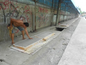 Concreting of canal by Lt. C. Villafuerte, Sr. Elem. School, Calinan, Davao City 1.jpg