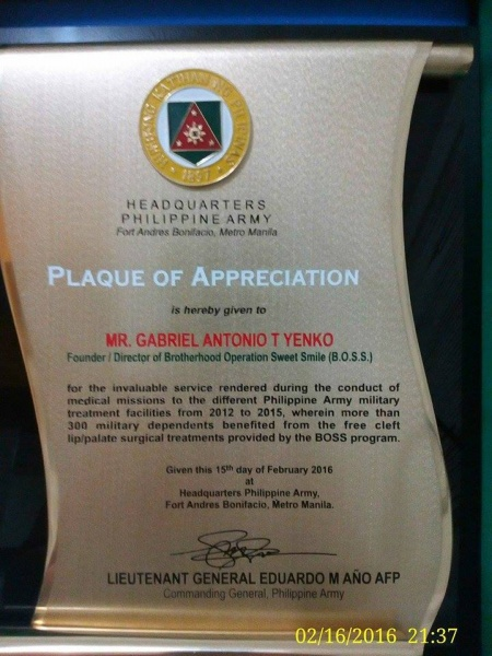 File:Plaque of Appreciation from Lt. General Eduardo M. Año AFP - Commanding General Philippine Army.jpg