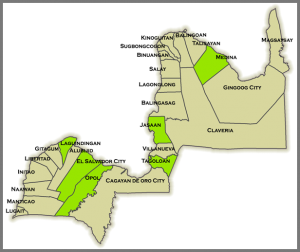 Misamis oriental municipalities and cities.png